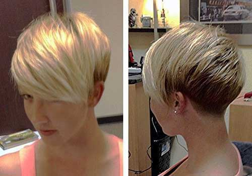 Blonde Pixie Hair Cut Styles