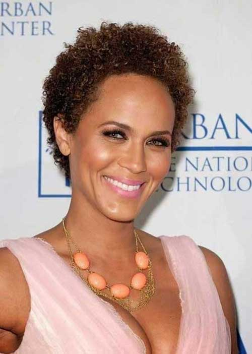 Natural Celebrity Short Hair Styles for Black Women