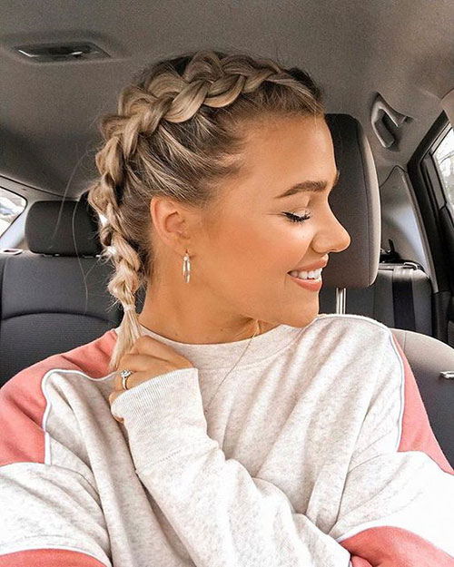 French Braided Styles for Short Hair