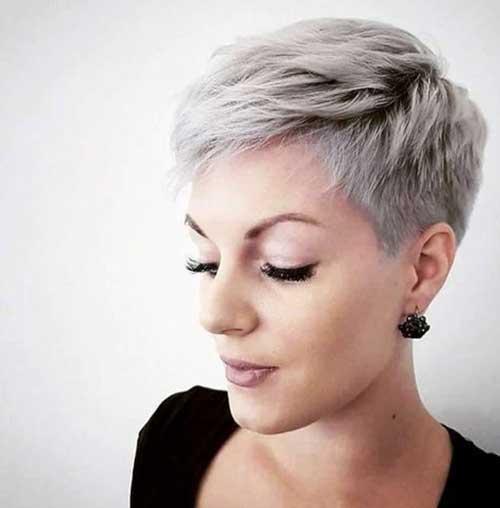 Grey Short Pixie Styles