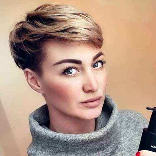 Layered Short Pixie Styles
