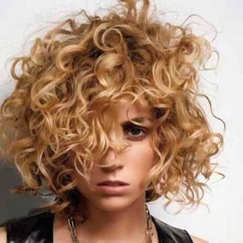 Short Messy Curly Styles
