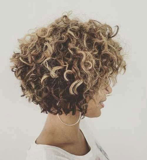 Short Curly Styles with Highlights