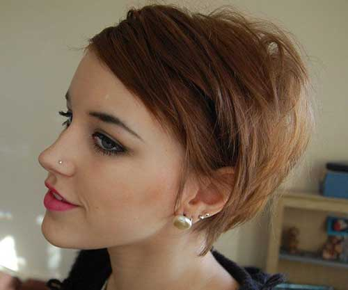 Short Fine Brown Hairstyles for Women