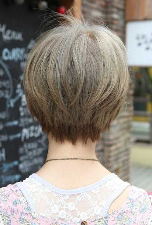 Short Fine Layered Hairstyles