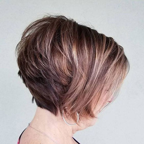 Short Layered Stacked Bob Styles