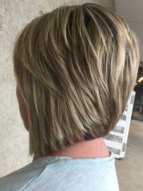 Short Layered Brown Styles