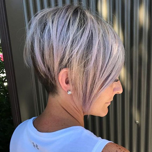 Short Layered Inverted Styles