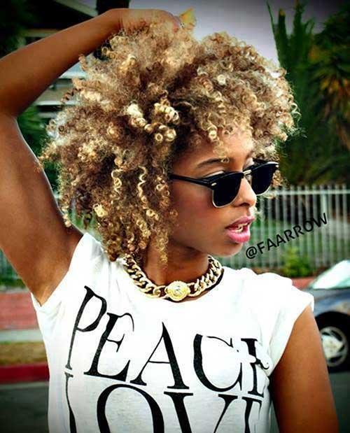 Natural Short Blonde Hair Styles for Black Women
