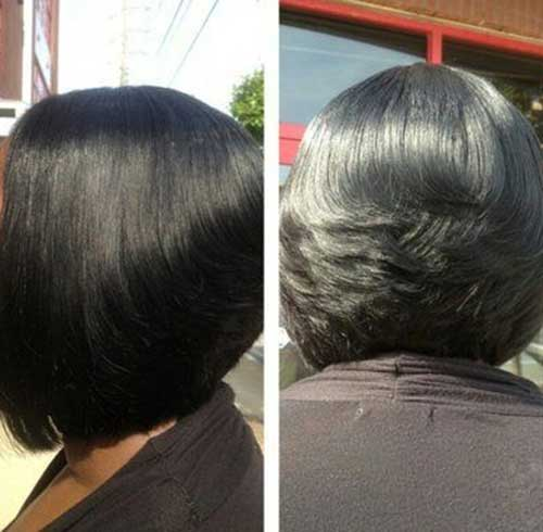 Natural Short Feathered Bob Hair Styles for Black Women