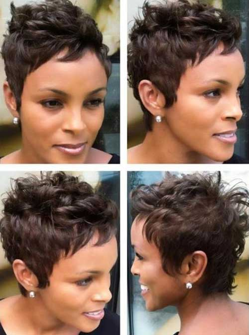 Natural Short Layered Hair Styles for Black Women