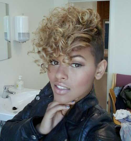 Natural Short Mohawk Hair Styles for Black Women