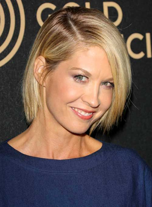 Inverted Short Hairstyles for Straight Hair