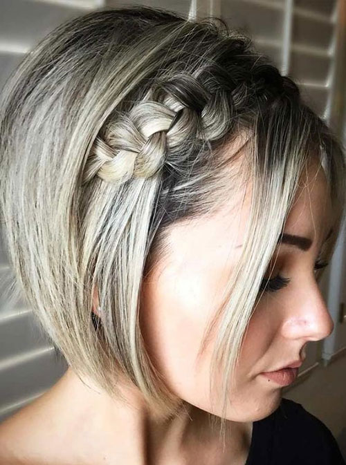 Side Braided Styles for Short Hair