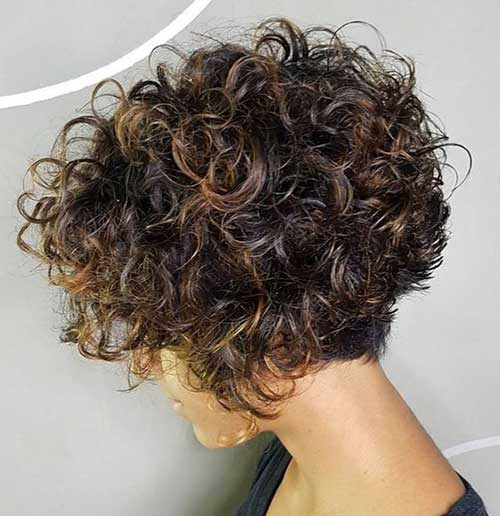 Stacked Short Curly Styles