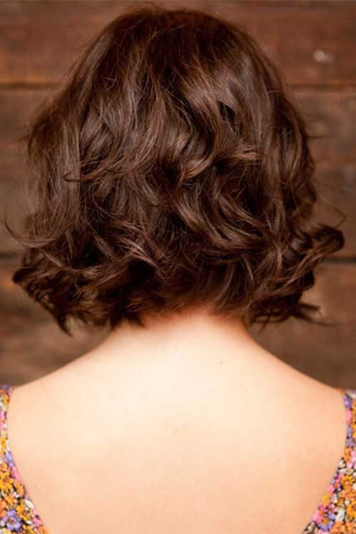 Short Wavy Curly Stacked Hairstyles