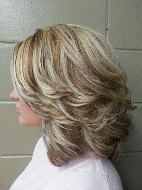 Blonde Layered Short Cuts
