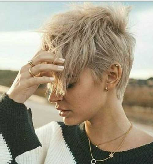 Blonde Long Pixie Hairstyles