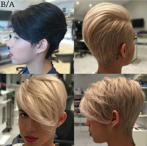 Brown Long Pixie Hairstyles