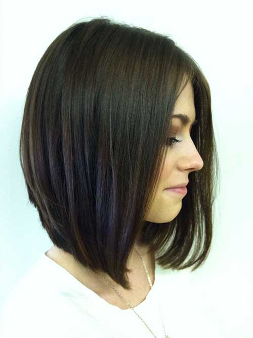 Straight Long Bob Hairstyle Ideas