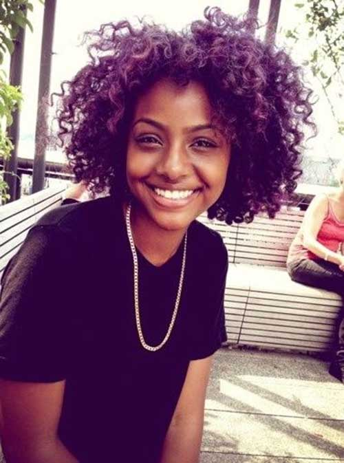 Short Purple Haircuts for Black Women