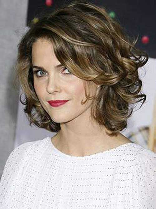Elegant Short Wavy Curly Hairstyles