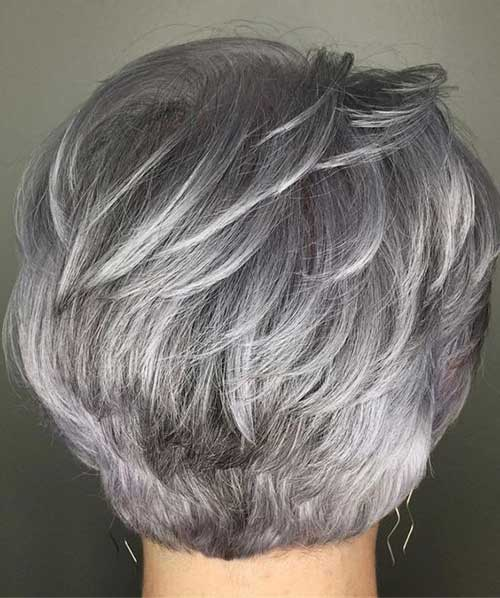Grey Layered Short Cuts