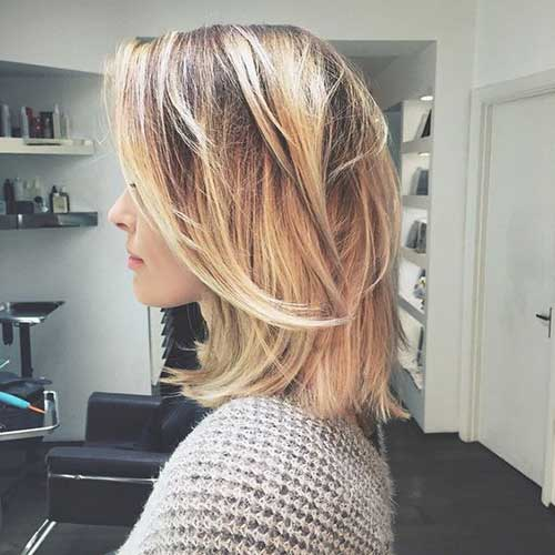 Long Bob Hairstyle Ideas with Choppy Layers