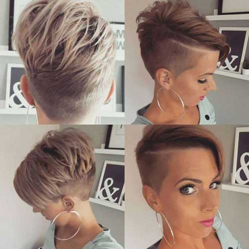 Shaved Long Pixie Hairstyles