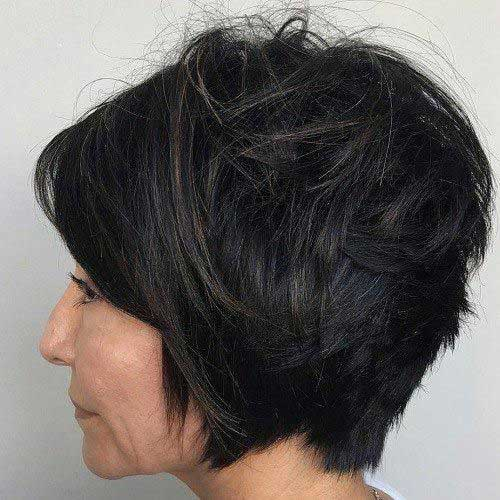 Messy Short Hair Cuts Over 50