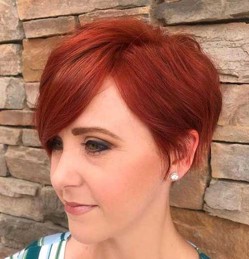 Red Long Pixie Hairstyles