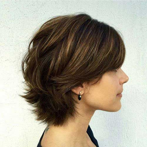 Layered Short Pixie Cuts