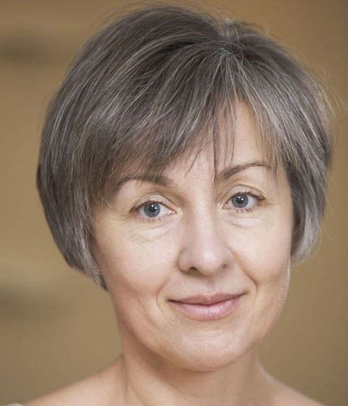 Short Hair Cuts with Bangs Over 50