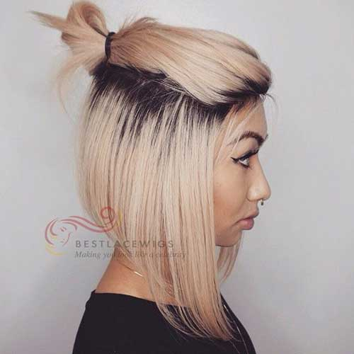 Blonde Short Straight Hairstyles
