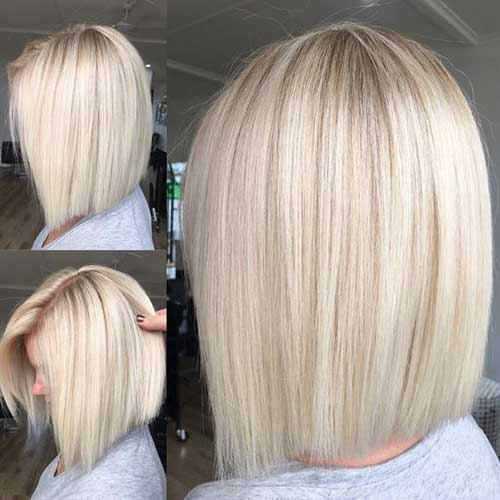 Short Straight Blonde Hairstyles