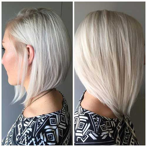 Short Straight Graduated Hairstyles
