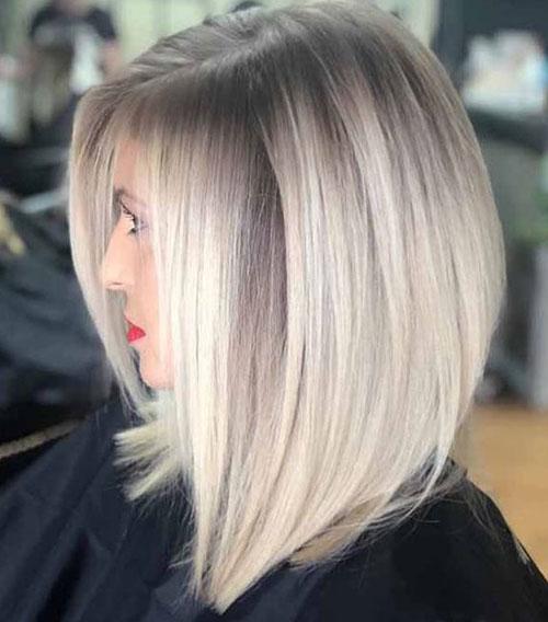Short Straight Balayage Hairstyles