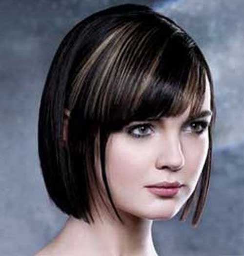 Short Styles with Bangs for Round Faces