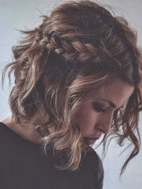 Short Wavy Curly Braided Hairstyles