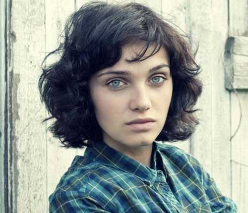 Short Wavy Curly Messy Hairstyles