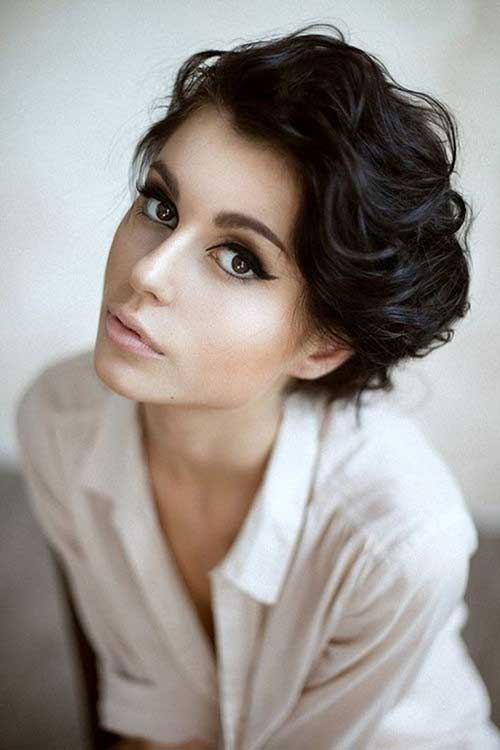 Short Wavy Curly Vintage Hairstyles