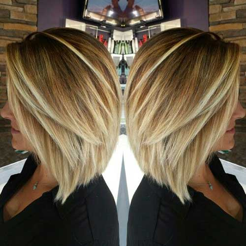 Short Straight Inverted Hairstyles