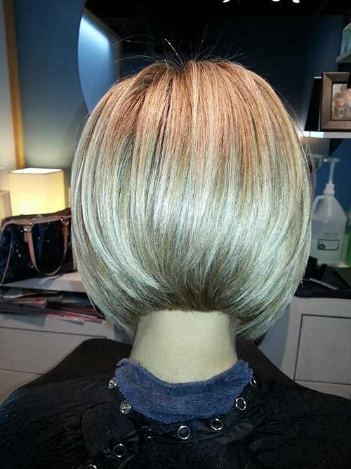 Back View of Angled Bob Haircuts