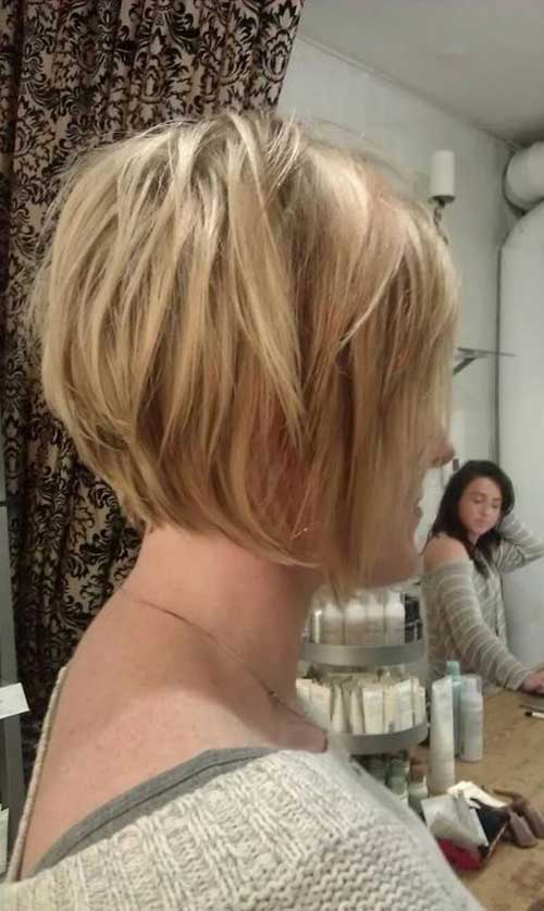 Back View of Blonde Bob Haircuts