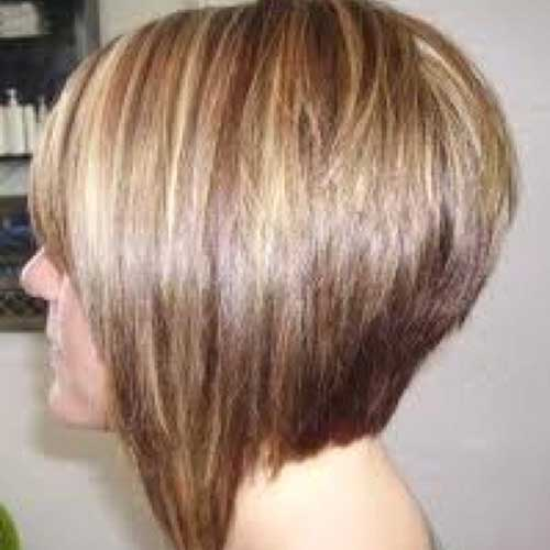 Back View of Bob Haircuts with Long Sides