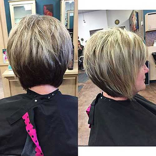 Back View of Graduated Bob Haircuts