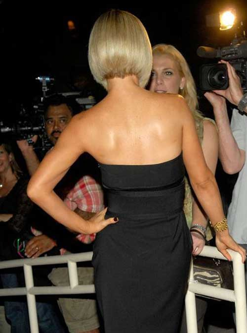 Celeb Back View of Bob Haircuts