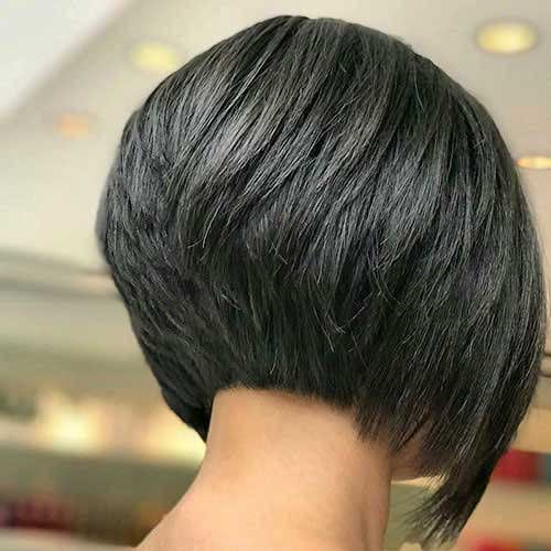 Back View of Layered Bob Haircuts