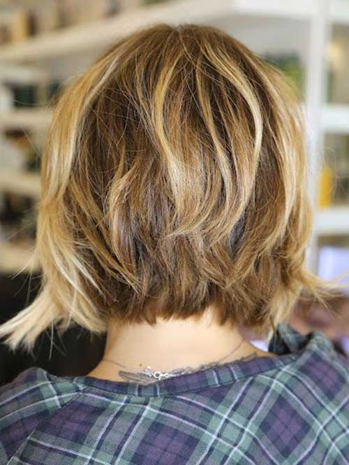 Back View of Messy Bob Haircuts