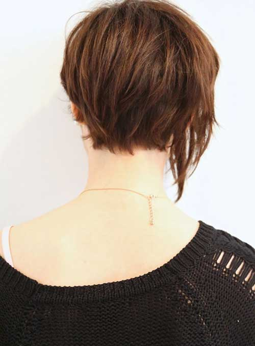 Back View of Very Short Bob Haircuts